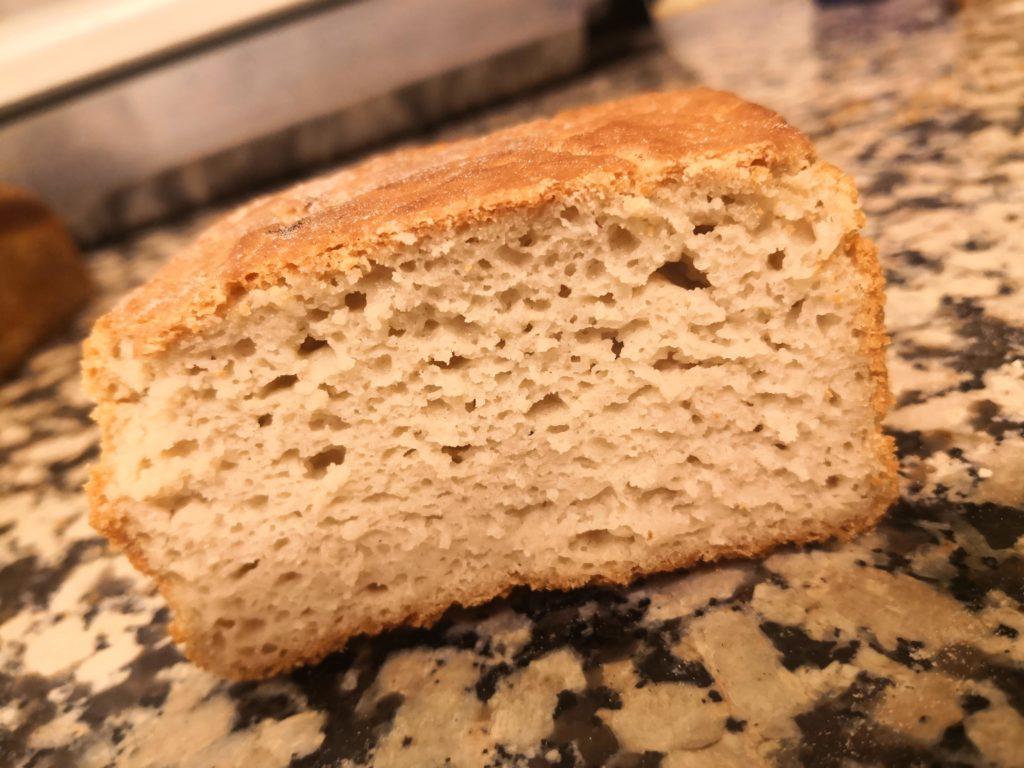Pain sans gluten - pain au riz - levain naturel - noglu